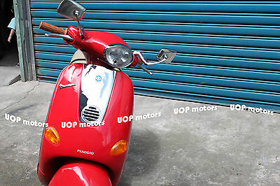 【Uop】Chrome Rearview Mirrors For Vespa Et2 Et4