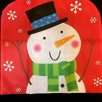 Fun Christmas SNOWMAN CHAIR COVER Winter Holiday Party Kitchen Dining Decoration