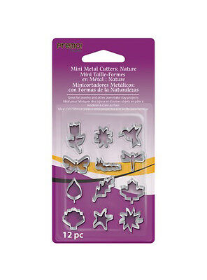Premo 12pc Mini Metal Cutter Set - Nature, Clay crafts, kids crafts