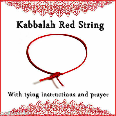 Kabbalah Red String Bracelet  XL long for ankle or neck large wrist choose size