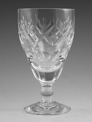 "Royal Doulton Crystal - GEORGIAN Cut - Wine Glass / Glasses - 4 3/4"" (2nd)"