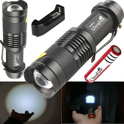 UltraFire Zoomable 2000LM CREE XM-L Q5 LED Flashlight+18650 Battery + Charger