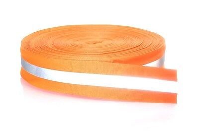 20M Silver Reflective Tape Strip Sew-On lime Orange Fabric Safty Vest, Width 2""