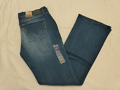 Nwt Juniors Levis 524 Too Superlow Bootcut Skinny $46 Stonewash 11524-0093