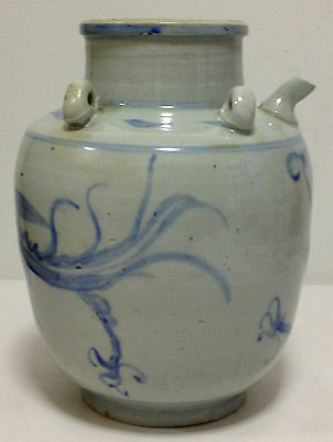 BLUE AND WHITE CHINESE PORCELAIN OIL POT