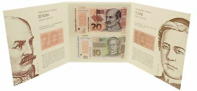 Croatia 10 & 20 Kuna, 2004 & 2014,P-39b P-43, UNC, Commemorative Banknote Set