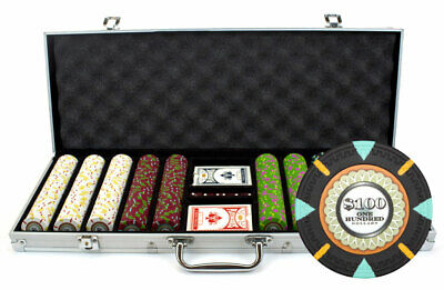 New 500 The Mint 13.5g Clay Poker Chips Set with Aluminum Case - Pick Chips!