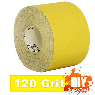 Painters ( 120 ) Grit Klingspor Sandpaper Roll Yellow 5, 10 0r 50m Timber Paint