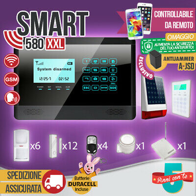 Kit Antifurto Casa Allarme Touch Screen Combinatore Gsm Wireless Smart580Xxl