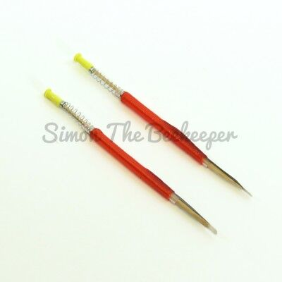 Beekeeping Chinese Queen Rearing Grafting Tools- Retractable end x 10