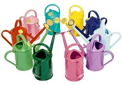 Haws 1L Litre Plastic Heritage Kids Watering Can Brass Rose Red Blue Green Pink