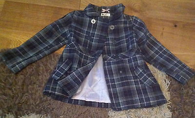 H&M Girls Checker Lined Winter Jacket, 7 years/122 cm, Good Condition