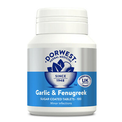 DORWEST HERBS GARLIC & FENUGREEK TABLETS for Dogs & Cats
