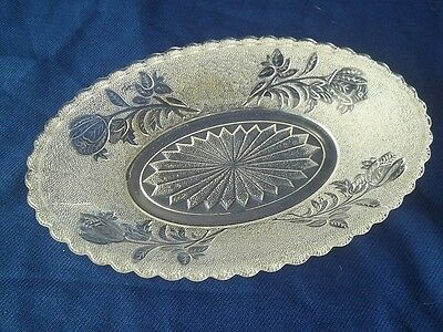 1880's EAPG Rose In Snow  Oval  Relish Dish