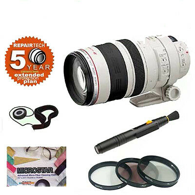 Canon EF 100-400mm f4.5-5.6L IS USM Telephoto Zoom Lens + Accessory Kit w/5 Year
