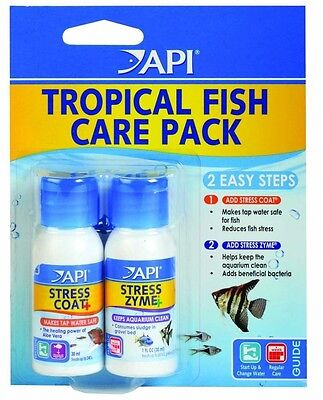 Api Aquarium Tropical Fish Start Up Pack Api Stress Coat & Api Stress Zyme 30Ml
