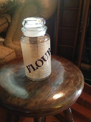 VINTAGE GLASS FLOUR CANISTER