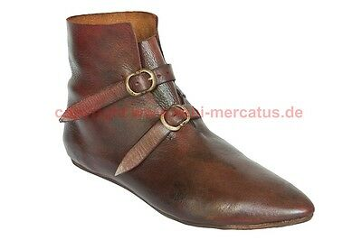 Schuhe Stiefel Mittelalter Larp Boots Shoes Medieval Halbstiefel 14. - 15. Jh