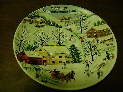 German Collector Plate...Christmas Scene...Kirchenthumbach 1986