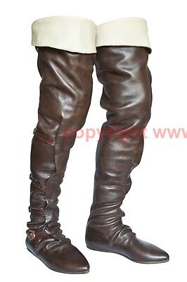 Reiterstiefel Schuhe Stiefel Mittelalter Larp Boots Shoes Medieval 14. - 15. Jh