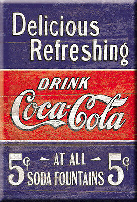 """Delicious Refreshing Coca Cola  2"""" X  3""""  Magnet, Free Shipping Refrig Magnet"""