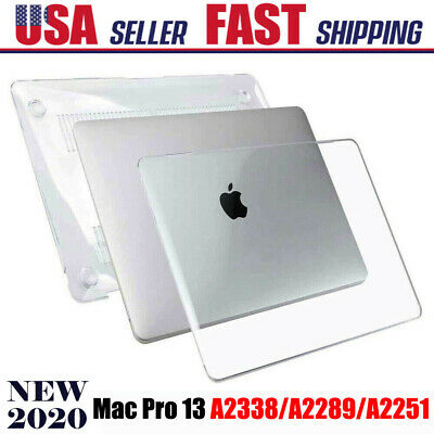 "Glossy Clear Crystal Hard Case Cover Snap On For MacBook Air 13.3"" A1369/A1466"