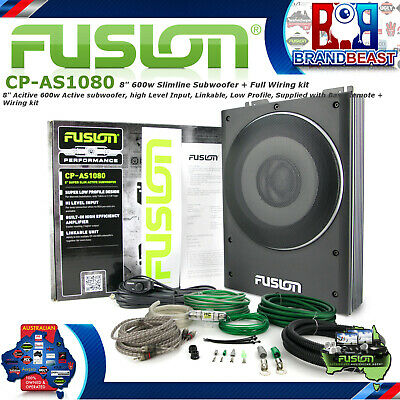 Vibe Optisound8 8 Inch Active 900W Slim Sub Woofer Amplifier Utes Utilitie Kit!