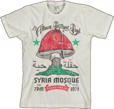 The Allman Brothers Band Syria Mosque 1971 S, M, L, XL, 2XL Natural T-Shirt
