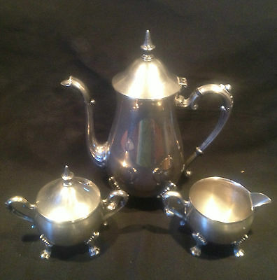 Silver Teapot Taunton Silversmith Footed Sheridan Coffee Pot Sugar Bowl Creamer
