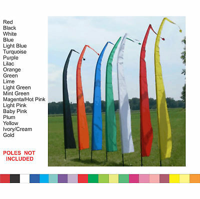 BALI FLAGS - 4 M Meter  COLOUR WEDDING BEACH GARDEN PARTY heart on end Flag Only
