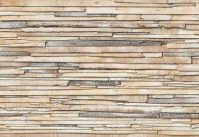 Wall Mural WHITEWASHED WOOD photo Wallpaper Large size wall art WOODEN WALL