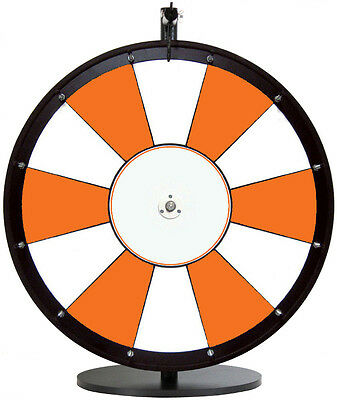 "24"" Orange and White Promotional Dry Erase Trade Show Prize Wheel"