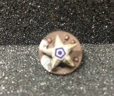 [48983] Undated Masonic(?) Lapel Button Star With Blue Pentagon