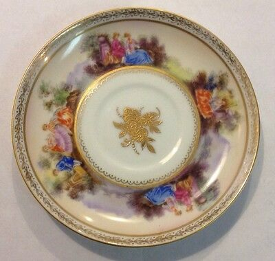 Antique Lefton China Hand Painted Saucer w Gold Etching Trim Japan 781 - U2