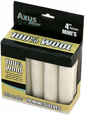 Axus Decor blonde 100% natural wool mini roller sleeves 10 pack