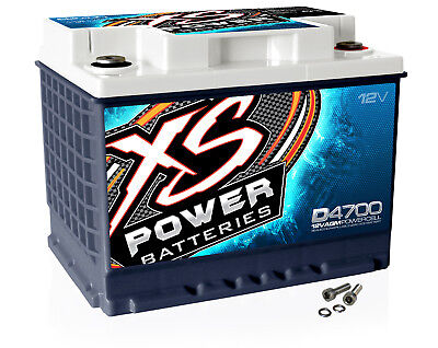 XS Power D4700 12 Volt AGM 2900 Amp Sealed Car Audio Battery/Power Cell+Terminal