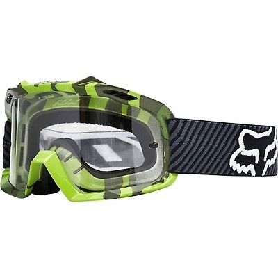 New Fox Racing AIRSPC Youth Dirt Bike Goggles - Green Camo MX ATV BMX MTB