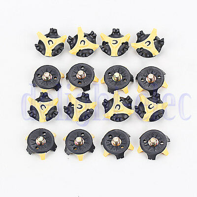 16pcs Yellow Golf Cleats Champ Spikes Stinger Shoes Replacement DH
