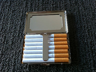 Cigarette case stainless steel item # 3070 (hold 7cigarettes) with mirror