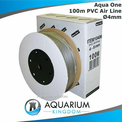 Aqua One 100 Metres Aquarium Soft Airline 4mm Tubing Hosing Air Line 100m