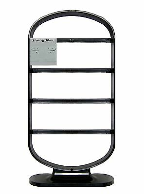 "Retail Earring Jewelry Display Rack Stand NIB Holds 12 - 2"" x 2"" Cards - Black"