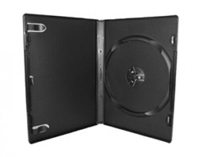 100 PREMIUM STANDARD Black Single DVD Cases 14MM (100% New Material)