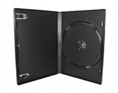 400 PREMIUM STANDARD Black Single DVD Cases 14MM (100% New Material)