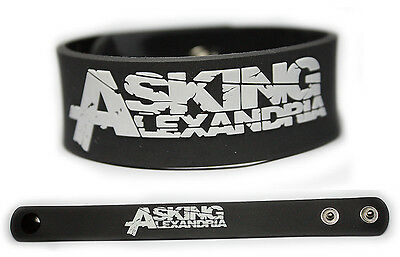 ASKING ALEXANDRIA Rubber Bracelet Wristband << Reckless & Relentless >>