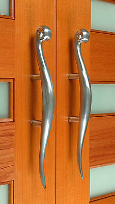 Large Solid Stainless Steel entry door handles 1Pair (2handles) Brand New 2sizes
