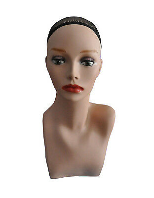 """17"""" PVC Mannequin Manikin Head Bust for Wig Hat Necklace Jewelry Display PH17#"""