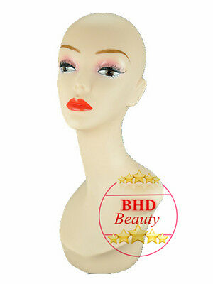"18"" PVC Mannequin Manikin Head Bust for Wig Hat Necklace Jewelry Display PYED#"