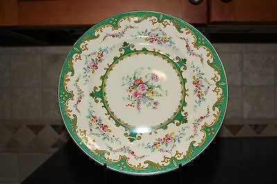 Myott Sevres Green 3811 10.5 inch plate Staffordshire China England