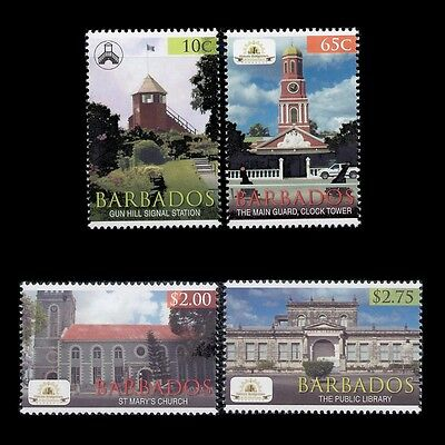 "Barbados 2012 - Architecture ""Historic Bridgetown"" Buildings - Sc 1200/3 MNH"