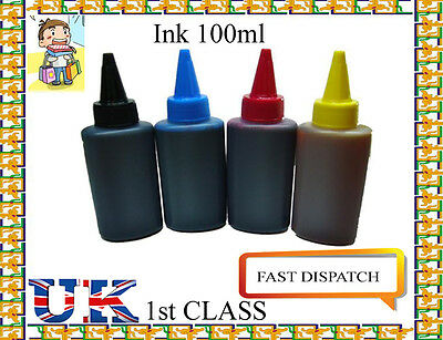 400Ml Refill Ink With Refill Kit For Hp Syringes Needles Drill Ready Use